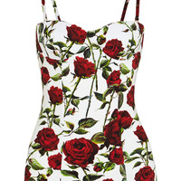 Dolce & Gabbana - Floral-print swimsuit