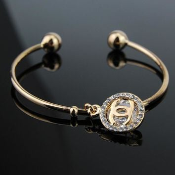 Chanel Women Fashion Diamonds Bracelet Jewelry