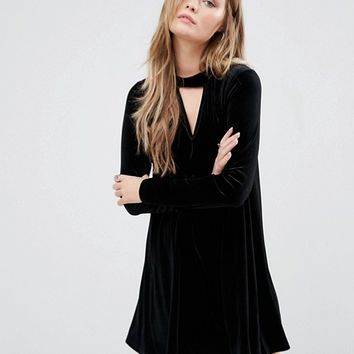 Glamorous Swing Dress With Choker Detail at asos.com