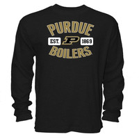Purdue Boilermakers Black Youth Thermal Long Sleeve T-Shirt - http://www.shareasale.com/m-pr.cfm?merchantID=7124&userID=1042934&productID=555875534 / Purdue Boilermakers