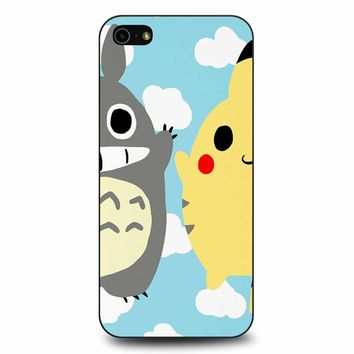 Totoro And Pikachu iPhone 5/5s/SE Case