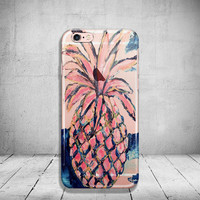 Pineapple iPhone 6 Case Clear iPhone 6s Case Clear iPhone 6 Case iPhone 5s Case iPhone 6s Plus Case Soft Silicone iPhone Case