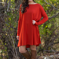 The Perfect Piko Tunic Top-Dark Spice