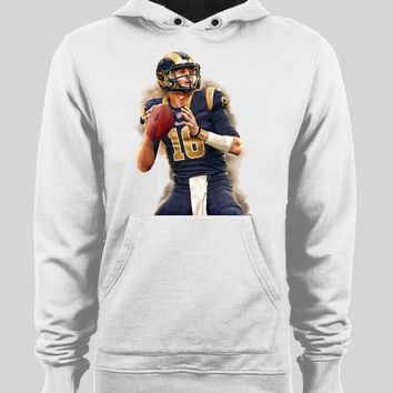 LOS ANGELES RAM'S JARED GOFF PAINTING FOOTBALL WINTER HOODIE/ SWEATER