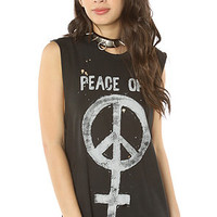 UNIF The Peace Off Muscle Tee in Faded Black and Silver : Karmaloop.com - Global Concrete Culture