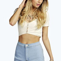 Freya Light Wash Denim Tube Shorts