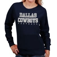 Dallas Cowboys Ladies Practice Too Sweatshirt - Navy Blue