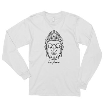 Be Free Buddha Long sleeve t-shirt (unisex)