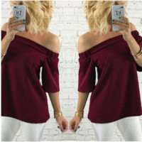 Off Shoulder Red Top B0014291