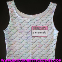 Hello, I'm a Mermaid Crop Top