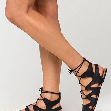 CELEBRITY NYC Lace Up Womens Sandals | Sandals