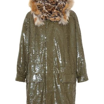 ASHISH | Reversible Sequinned Parka with Faux Fur Lining | brownsfashion.com | The Finest Edit of Luxury Fashion | Clothes, Shoes, Bags and Accessories for Men & Women