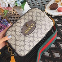 GUCCI High Quality Classic Fashionable Women Shopping Bag Leather Crossbody Satchel Shoulder Bag