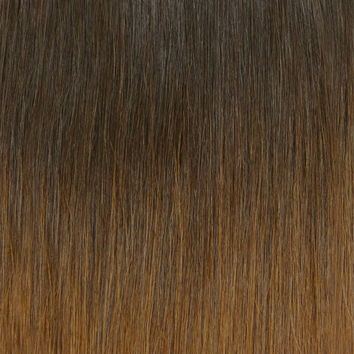 "OMBRE - Espresso (2) to Caramel Brown (4) - 20"" - ON BACK ORDER"