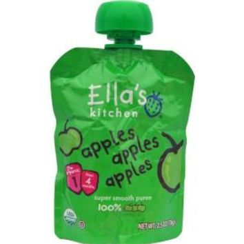 Ella's Kitchen Baby First Food - Apple - Case Of 12 - 2.5 Oz.
