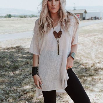 Summer Breeze Tunic Top - Latte