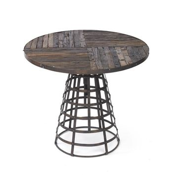 Iron Westport Table with Reclaimed Wood