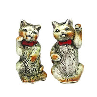 Vintage Cat Salt and Pepper Shakers |  Character Salt and Pepper Shakers |  Made in Japan