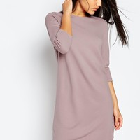 ASOS Shift Dress in Ponte with 3/4 Sleeves at asos.com