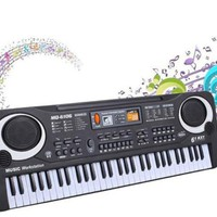 61 Keys Digital Music Electronic Keyboard Electric Piano Gift with Microphone