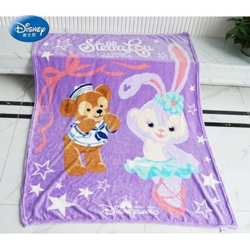 A Disney Friend of Duffy Cartoon Blanket 120x150cm Flannel Summer Air Conditonal Throw for Baby Kids Children Gift