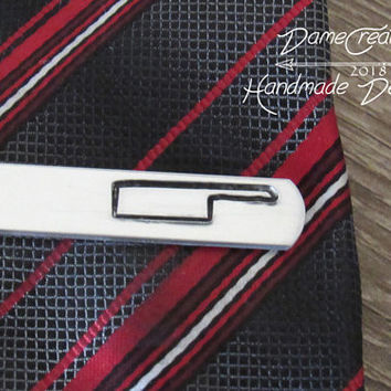 Knife Tie Cilp, Groom Tie Clip Gift, Chef Gifts for Him, Gift for Fiance Man, Junior Groomsman Gift, Knife Blade Engrave