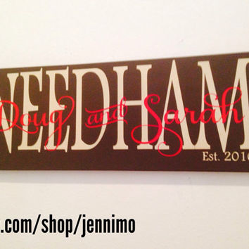 Personalized Established Anniversary Wedding Wood sign