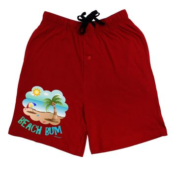 Fun Summer Beach Scene - Beach Bum Adult Lounge Shorts  by TooLoud