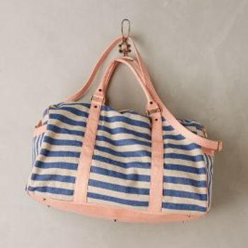 Deux Lux Rosalie Striped Weekender in Navy Size: All Bags