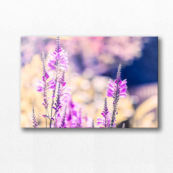 flower photography canvas wrap botanical canvas 12x12 24x36 fine art photography nature floral canvas art large scale canvas lilac pastel