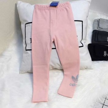 Adidas Girls Children Baby Toddler Kids Child Fashion Casual Pants Trousers