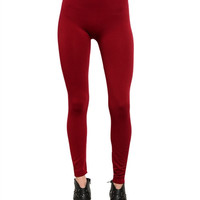 Wine Fleece Leggings