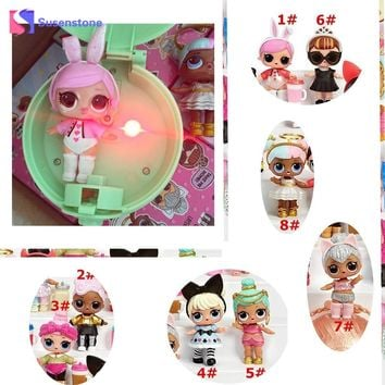 1 PCS LOL Surprise Doll Beads Unpacking Egg Ball Dolls Funny Action Figure Toy Kids Dolls Girls Dress Up Dolls Toy Gifts Beads