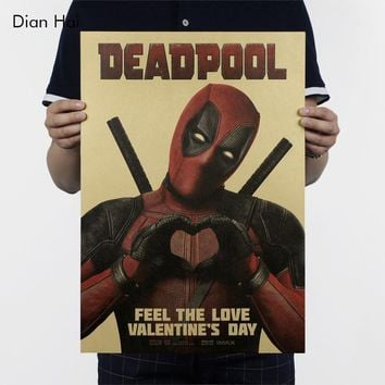 Dead Pool Posters 51x36 cm  Wall Stickers