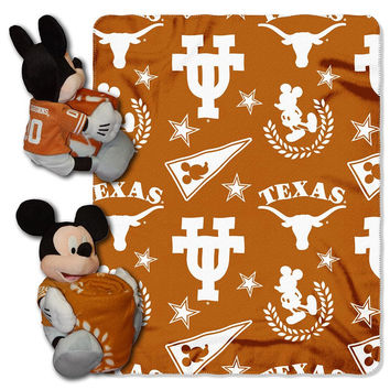 Texas Longhorns NCAA Mickey Mouse with Throw Combo