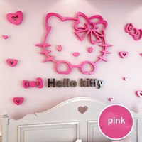 3D Hello Kitty Wall Sticker
