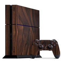 Playstation 4 Cover/Skin - Ebony Wood from Slickwraps