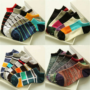 Mens Womens Comfortable Casual Sports Ankle Socks Best Gift (5 PCS) Socks-26