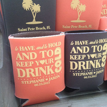 Custom Wedding Koozies Free Shipping Favor Koozie Beer Coozies Personalized