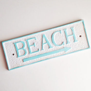 Beach House Wall Sign, Coastal Cottage Plaque, Aqua Pool Sign, Housewarming Gift