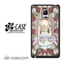 Marina And The Diamonds I Hate Everything For Samsung Galaxy Note Edge Case Phone Case Gift Present YO