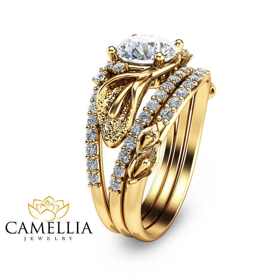 14k Yellow Gold Diamond Engagment Rings From Camellia Jewelry