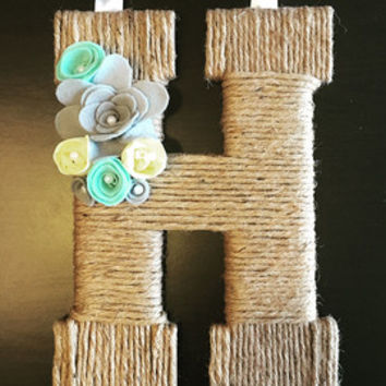 Winter Wreath, Front Door Wreath, Fall Wreath, Spring Wreath Custom Jute Twine Flowers