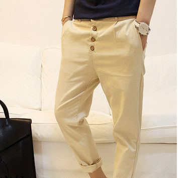 Korean Men's Fashion Casual Pants [6541177027]