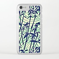 RETRO TROPICAL TREES Clear iPhone Case by Digital Effects