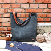 Women's shoulder bag in Canvas hobo style