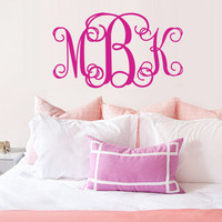 Monogram wall decal art vinyl wall stickers decor car sticker