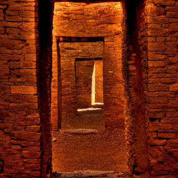 Photo Card, Door Ways at Chaco Canyon, New Mexico, Nature Photography, Spiritual Journey, Mystical, Sacred Space, Passage