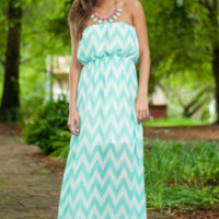 Wavy Print Beach Chiffon Maxi Dress B0015116