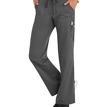 Grey's Anatomy 4 Pocket Drawstring Waist Cargo Scrub Pants | Scrubs & Beyond